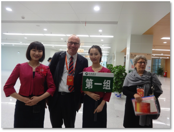 Opening of the Tongji clinic in Wuhan